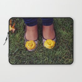 Yellow Flower Shoe! Laptop Sleeve