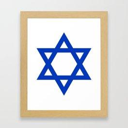 Blue Hexagram Framed Art Print