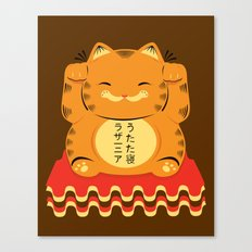 Lucky Garfield Canvas Print