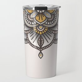 Mandala Beige Travel Mug
