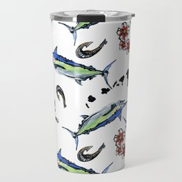 Blue marlin Travel Mug