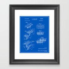 Lego Building Brick Patent - Blueprint Framed Art Print