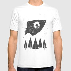 laika. MEDIUM White Mens Fitted Tee