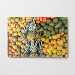 Fresh Fruit at the Market Metal Print