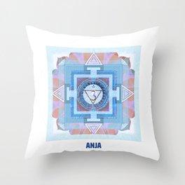 Sixth Chakra Third Eye (Anja) (Chakra Series) #6 Throw Pillow