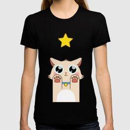 Cream Pastel Cat T-shirt