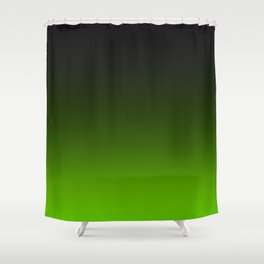 Ombre Lemon Green Shower Curtain