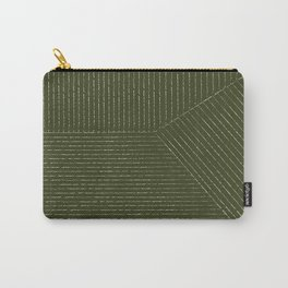 Lines (Olive) Carry-All Pouch