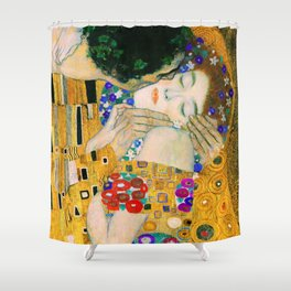 The Kiss By Gustav Klimt Shower Curtain