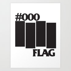 #000 Flag Art Print