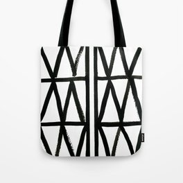 Brush and Ink II Mudcloth Pattern Tote Bag