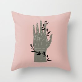 The Palmistry Hand Throw Pillow