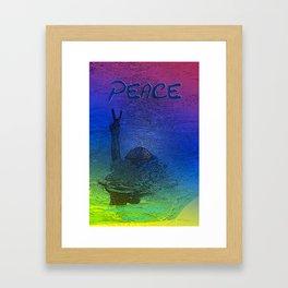 Peace symbol photoart Framed Art Print