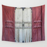 doors Wall Tapestries featuring Palace Doors by Jennifer Stinson