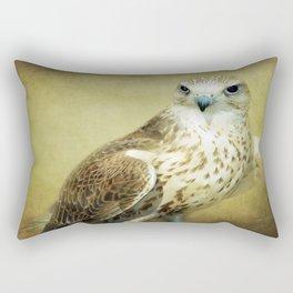 The Saker Falcon Stare Rectangular Pillow