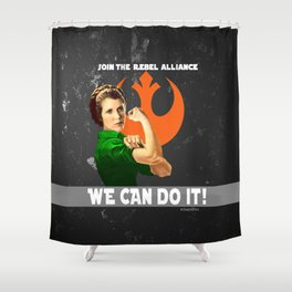Join the Rebellion Shower Curtain