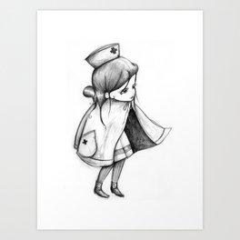 Little Nurse Art Print