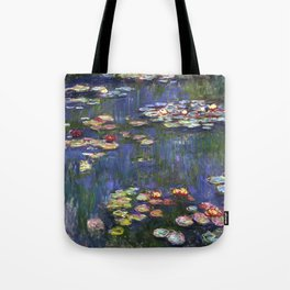 Monet Purple Waterlillies Tote Bag