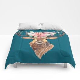 Winter Deer IV Comforters