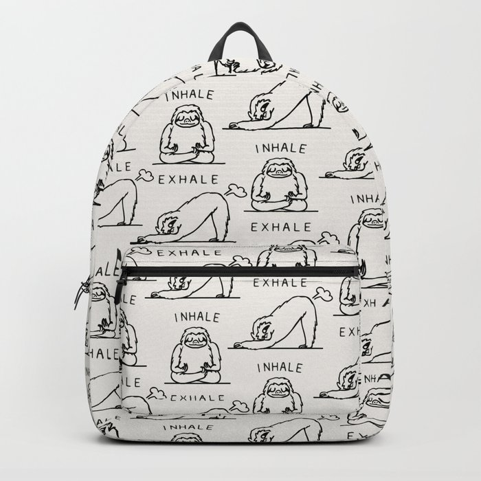Inhale Exhale Sloth Backpack