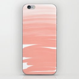 Modern abstract pink coral ombre brushstrokes pattern iPhone Skin