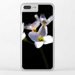 Cardamine Pratensis Flowers Clear iPhone Case