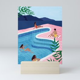 Pool ladies Mini Art Print