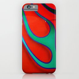 Flaming Red Hot Rod iPhone Case