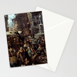 Piazza d'Erbe in Verona Adolph Menzel Stationery Cards
