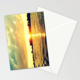 Sunset watEr :Houses Off the River Stationery Cards