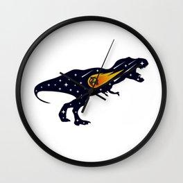 Dinosaur and meteorite strike #society6 #decor #buyart #artprint Wall Clock
