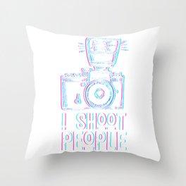 Photo Shoot Photographer Throw Pillow