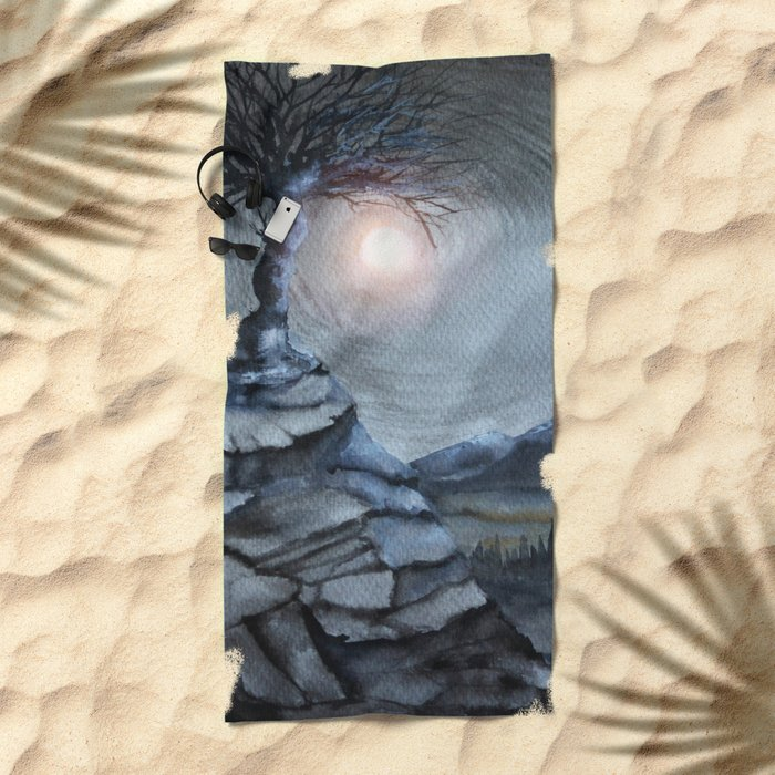 Track 31: The lone tree Beach Towel