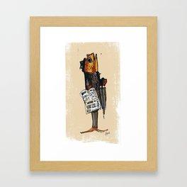 Business Fish Framed Art Print