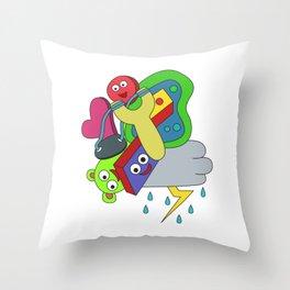 Awsome & Cool Slingshot Tshirt Design Slingshot doodle Throw Pillow