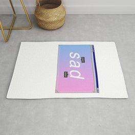 Sad Aesthetic Vaporwave Gift Notepad Window Emotional design Rug