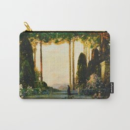 The Enchanted Garden Tuscany floral landscape painting by Thomas Mostyn Carry-All Pouch