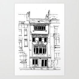 Brussels Art Nouveau Art Print