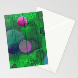 greenish sphere Stationery Cards