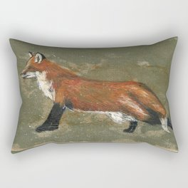 Stretching Fox Rectangular Pillow