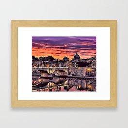 City Sunset Airbrush Artwork Framed Art Print
