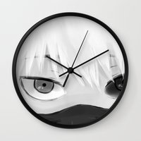 tokyo ghoul Wall Clocks featuring Ghoul by forpentagon