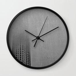 Morning Fog Over Atlanta Wall Clock