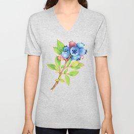 Wild Maine Blueberries Unisex V-Neck