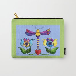 Dragonfly Love Carry-All Pouch