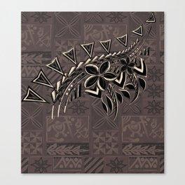 Vintage Hawaiian Tribal Petrogyph Pattern Canvas Print
