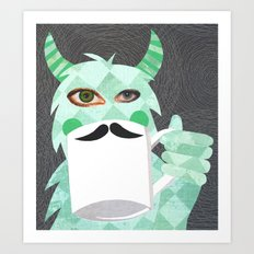 Movember Monster. Art Print
