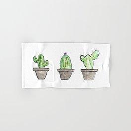 3 types of cactus Hand & Bath Towel