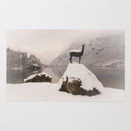 The Stag At Lake Bohinj Rug
