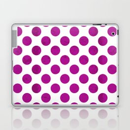 Fuchsia Polka Dot Laptop & iPad Skin